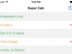 Super Calc - (Computer Algebra System - CAS) Symbolic Graphing Programmable Calculator for Calculus, (Linear) Algebra and More 1.0 Screenshot