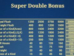 Super Double Bonus Poker 2.0.0.2 Screenshot