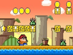 Super Jump One Bro for Pixel World free games 1.4 Screenshot