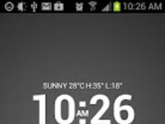 Super Typo Weather Info Clock 3.7 Screenshot