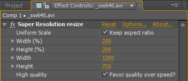 super resolution plugin