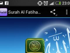 Surah Al Fatiha MP3 1.0 Screenshot