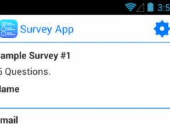 Survey App Lite 1.0.1 Screenshot