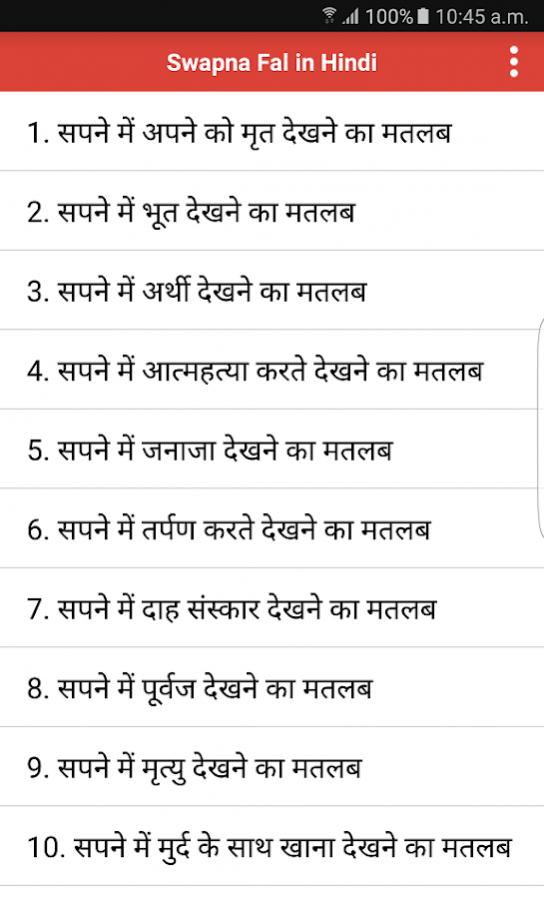 Swapna Phal in Hindi (सपनो का अर्थ) Free Download