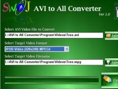 SWiJ AVI to All Converter 1.0 Screenshot