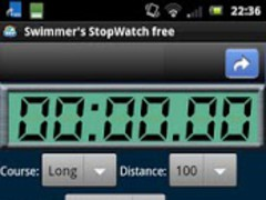 Swimmer's StopWatch free 1.1.8 Screenshot