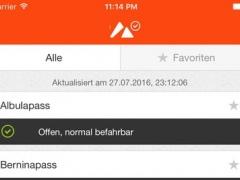 Swiss alpine passes status information 1.1.4 Screenshot