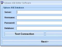 Sybase ASE Editor Software 7.0 Screenshot