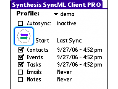Synthesis SyncML Client PRO for PalmOS 3.0.2.27 Screenshot