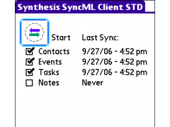 Synthesis SyncML Client STD for PalmOS 3.0.2.27 Screenshot