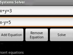 Systems of Equations 4.17 Screenshot