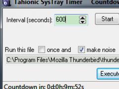 SysTray Timer 1.3.01 Screenshot