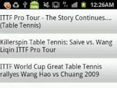 Table Tennis Videos 1.1 Screenshot