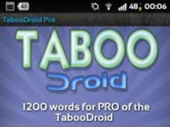 TabooDroid Pro 2.1.2 Screenshot