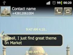 Taj Mahal GO SMS Pro theme 1.02 Screenshot