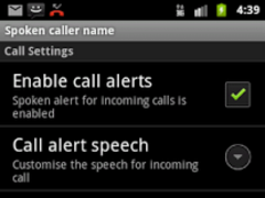 Talking SMS and Caller ID full 1.17 Screenshot