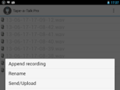 Tape-a-Talk Pro Voice Recorder 1.2c Screenshot