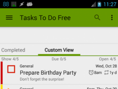 Tasks To Do Free, To-Do List 2.7.2 Screenshot