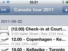 Tavel Schedule 1.1 Screenshot