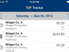 TDF Tracker – Time, Expense and Mileage Tracking 1.8.4 Screenshot