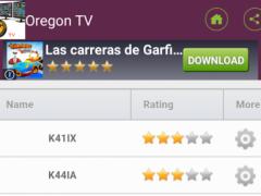 Television stations Oregon 1.0 Screenshot