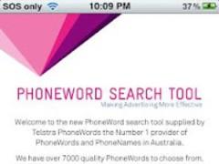 Telstra PhoneWords 1.0 Screenshot