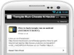 Temple Run Cheats N Hacks Tips 1.0 Screenshot