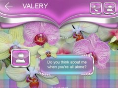 Tender Orchids Go SMS Theme 1 Screenshot