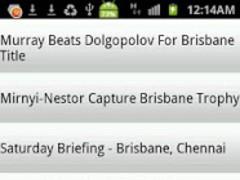 Tennis Information 1.0 Screenshot
