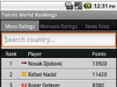 Tennis World Rankings and News 1.1 Screenshot