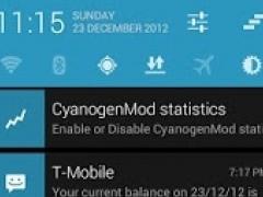 TESLA BLUE CM AOKP THEME 1.6 Screenshot