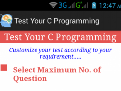 Test Your C Programming 1.0 Screenshot
