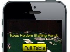 Texas Holdem Starting Hands Chart 1.2 Screenshot