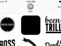Text Tatts vol. 1 - Hip Hop Emoji stickers 1.0.1 Screenshot