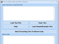 Text To Morse Code Converter Software 7.0 Screenshot