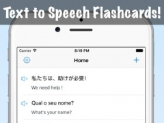 Text to Speech Voice Flashcard - TTS Voices App Engine with Vocabulary Flash Card Maker 1.0 Screenshot