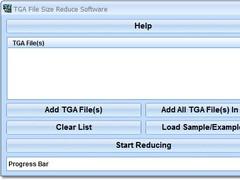 TGA File Size Reduce Software 7.0 Screenshot