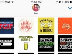 TGIF Stickers 1.0 Screenshot