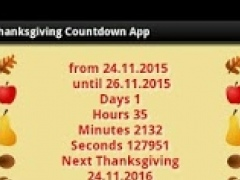 Thanksgiving Countdown App 2.0 Screenshot