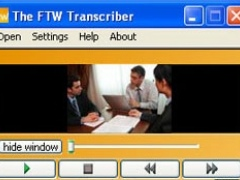 The FTW Transcriber 2.4.1 Screenshot
