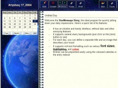 The StarMessage Diary Software 3.5 Screenshot