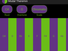 Theremin Tuned to Modes/Scales 3.0 Screenshot