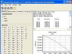 Thermophysical properties - Thermo-Prop 1.4.11 Screenshot