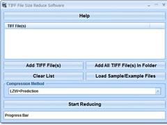 TIFF File Size Reduce Software 7.0 Screenshot