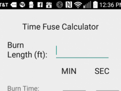 Time Fuse Calculator (EOD) 1.3 Screenshot