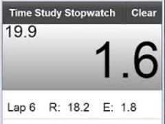 Time Study Stopwatch 1.1 Screenshot