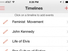 TimeMarch : For Historical Timelines, Test Prep, Chronological Events & Family Genealogy 1.6 Screenshot