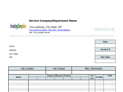 Timesheet Invoice Template Free Download - Timesheet invoice template