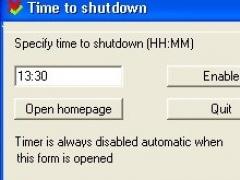 TimetoShutDown 2.0 Screenshot