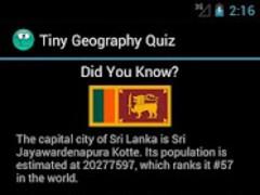 Tiny Geography Quiz 1.1 Screenshot